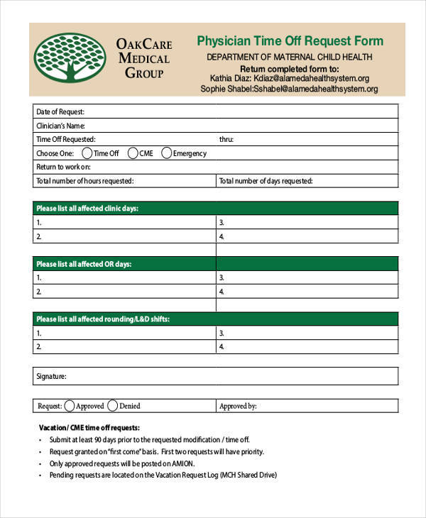 request off forms tutornowinfo - request for time off form