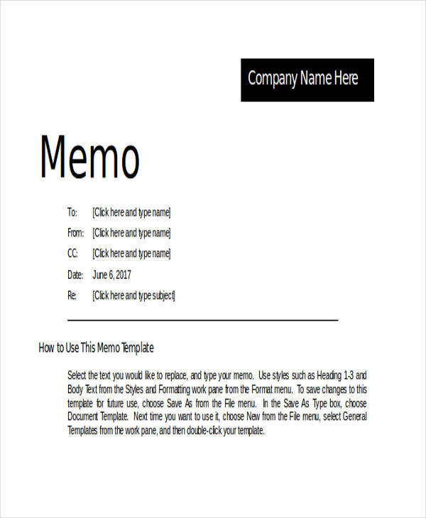 14+ Memo Writing Samples - PDF