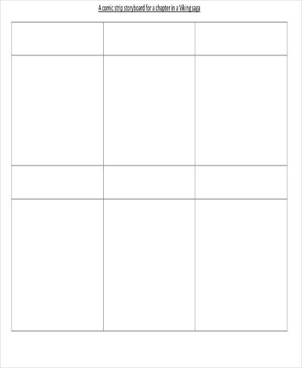 6 Comic Storyboard \u2013 Free Sample, Example, Format Download Sample