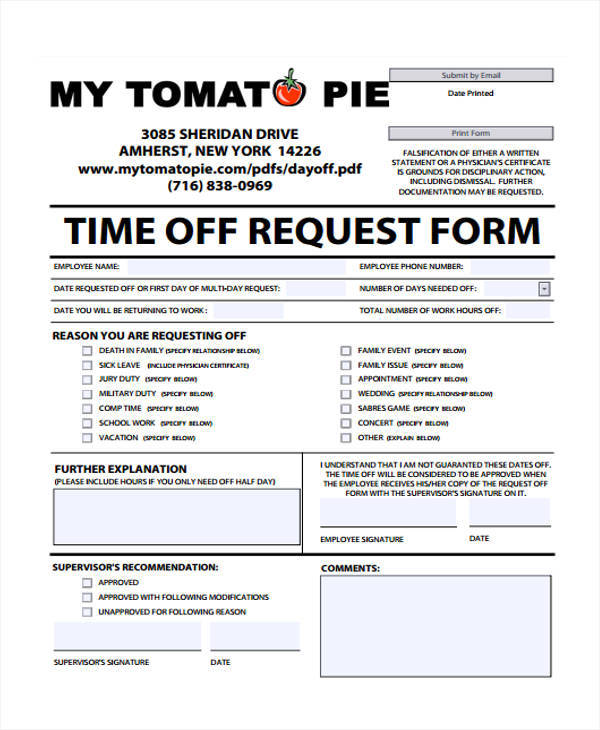 requesting time off sample - Alannoscrapleftbehind - time off request form sample
