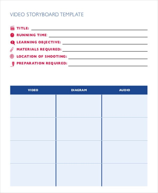 Video Storyboard Template vertical video storyboard template for - free storyboard templates
