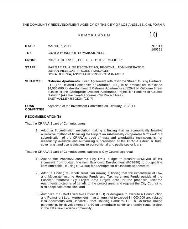 8+ Board Memo Template \u2013 Examples in Word, PDF Sample Templates - Professional Memo Template