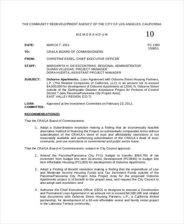 7+ Board Memo Template \u2013 Free Sample, Example, Format Download