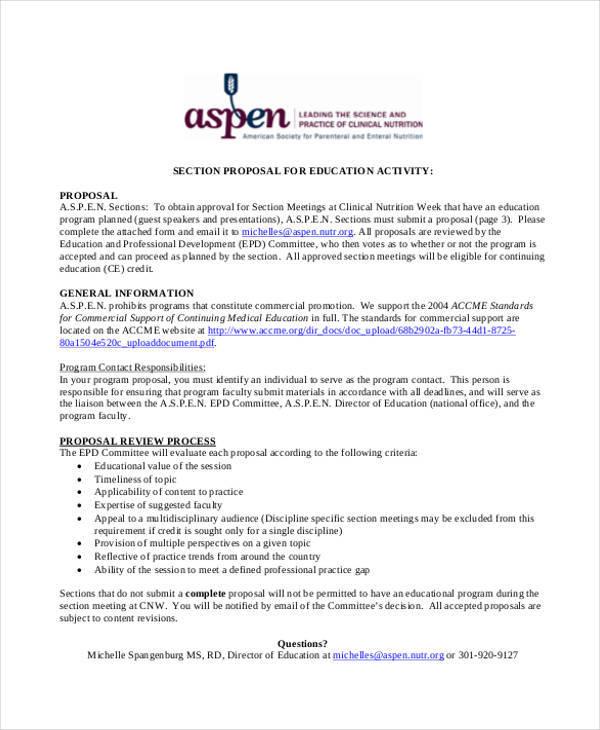 9+ Program Proposals \u2013 Free Documents in Word, PDF Sample Templates