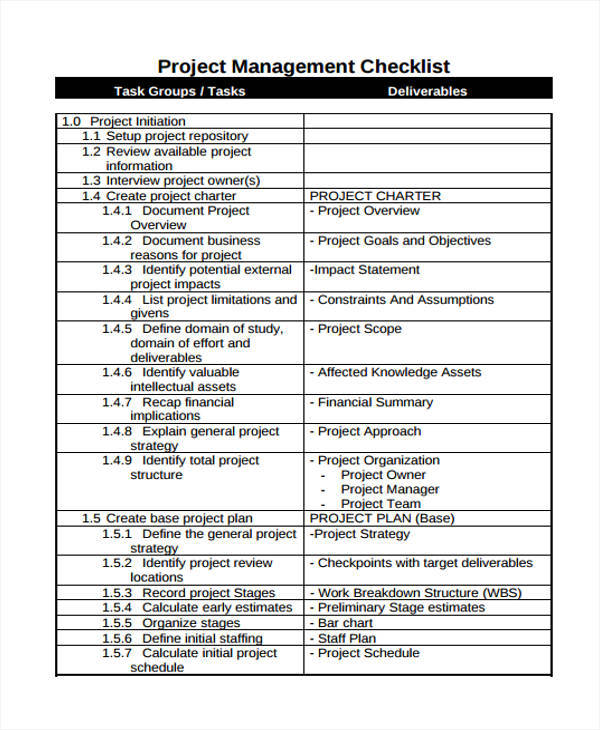 7 Management List Sample \u2013 Examples in Word, PDF Sample Templates