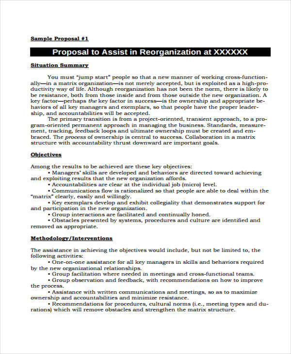 Project Proposal Templates - 8 Examples in Word, PDF - project management proposal template free