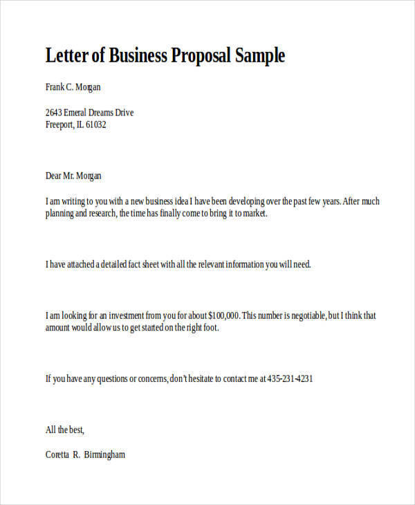 32+ Business Proposal Formats - Word, PDF, Apple Pages