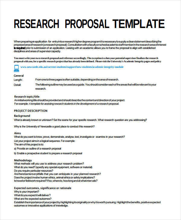 Research Proposal Sample Management  Example Of Resume Description