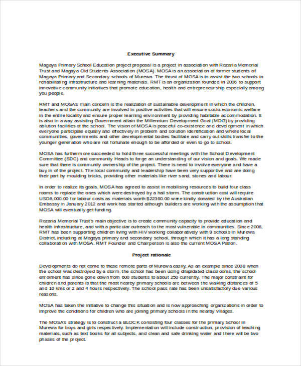 7+ Project Proposal Templates \u2013 Examples in Word, PDF Sample Templates - construction project proposal