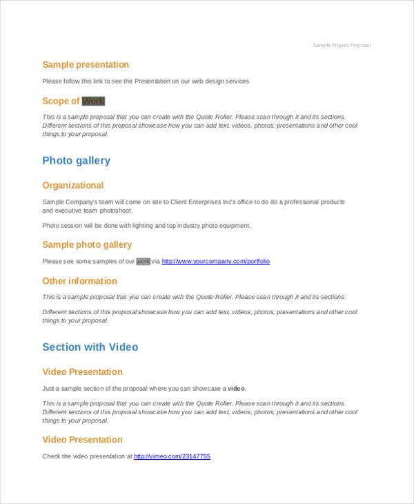 9+ Work Proposals \u2013 Free Sample, Example, Format Download Sample