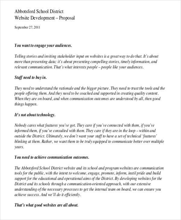 website proposal sample - Canasbergdorfbib