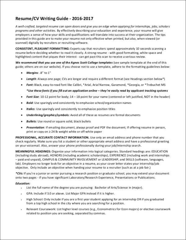 Best Resume Format to Choose for 2017 Sample Templates