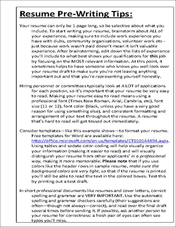 Sample1 Resume Writing Service Dallas Perfect Resume 10 Commandments Of Resume Writing