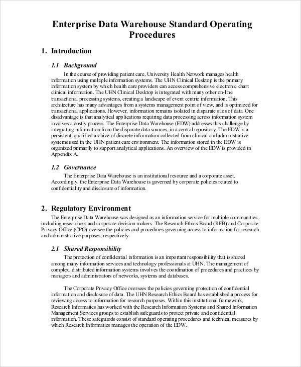 33+ SOP Templates in PDF Sample Templates - how to write a navy standard operating procedure