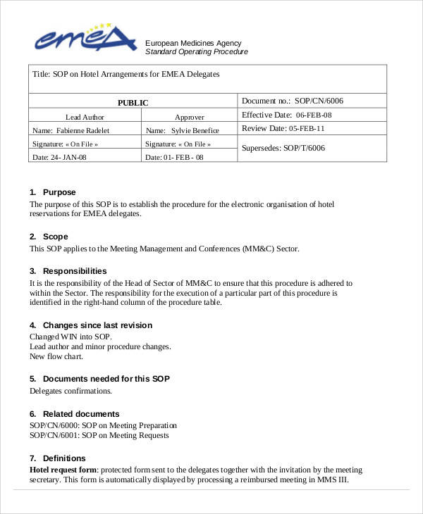 ... 34 SOP Templates In PDF   How To Prepare A Sop Format ...