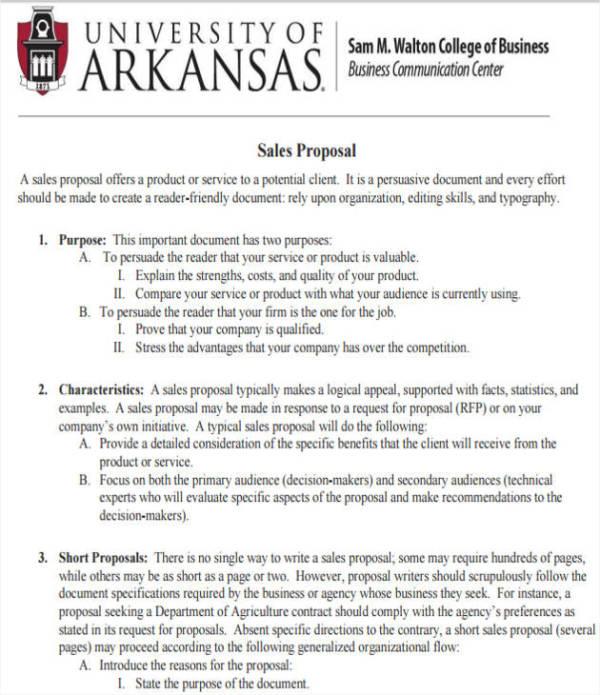 Product sales proposal sample pdf