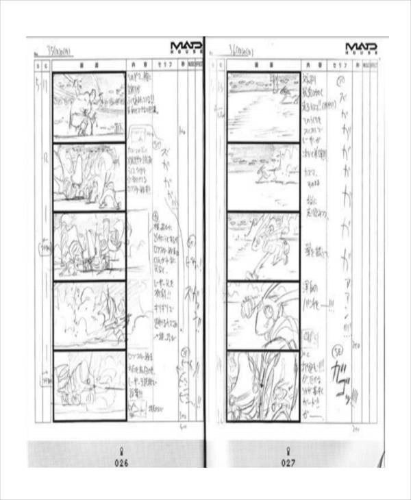 8+ Animation Storyboard \u2013 Free Sample, Example, Format Download - anime storyboard