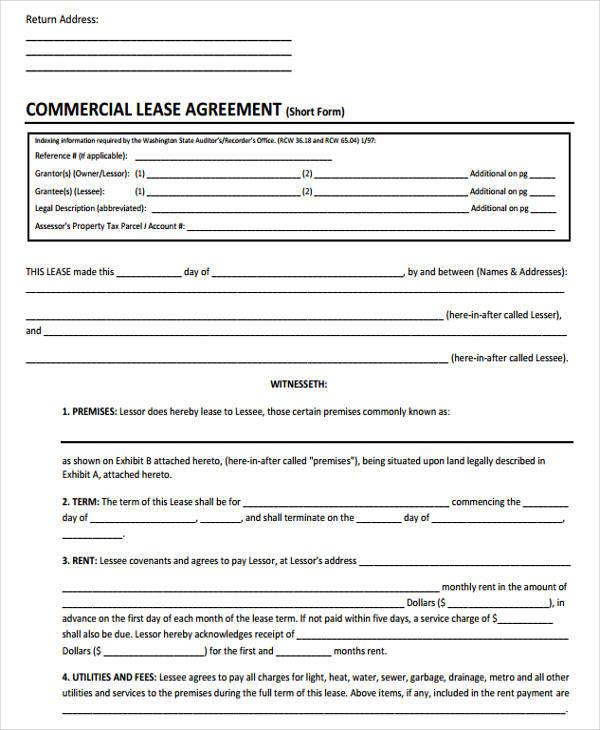 48+ Lease Agreement Formats  Templates - Word, PDF, Pages