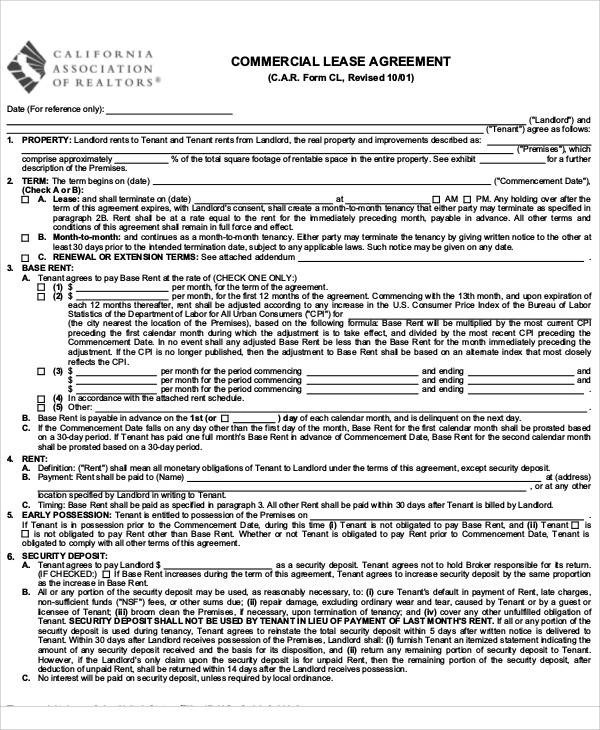 36+ Lease Agreements in PDF