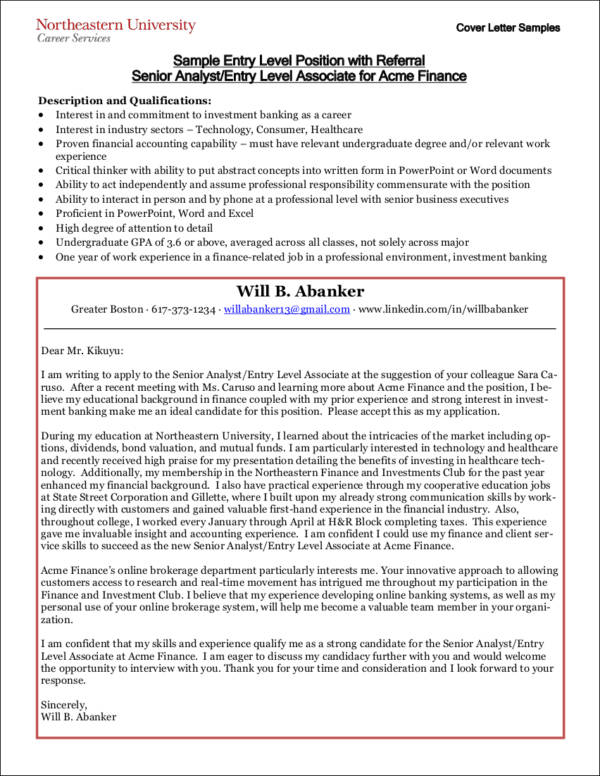 8 Cover Letter Mistakes Entry-Level Candidates Make Sample Templates - entry level cover letter sample