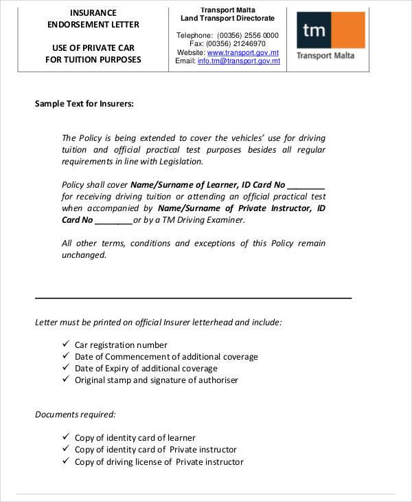 endorsement letters - solarfm