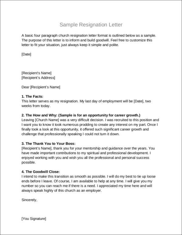 Always Make Your Resignation Letter Polite Sample Templates