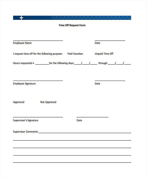 Request For Time Off Form BesikEightyCo