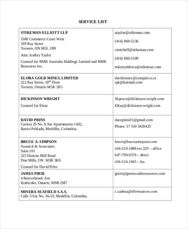 Service List Samples Entry Level Retail Customer Service Resume - Service List Sample