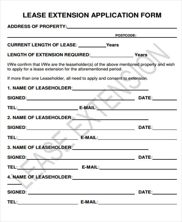 Lease Extension Form Illinois Renewal Andtension Of Commercial