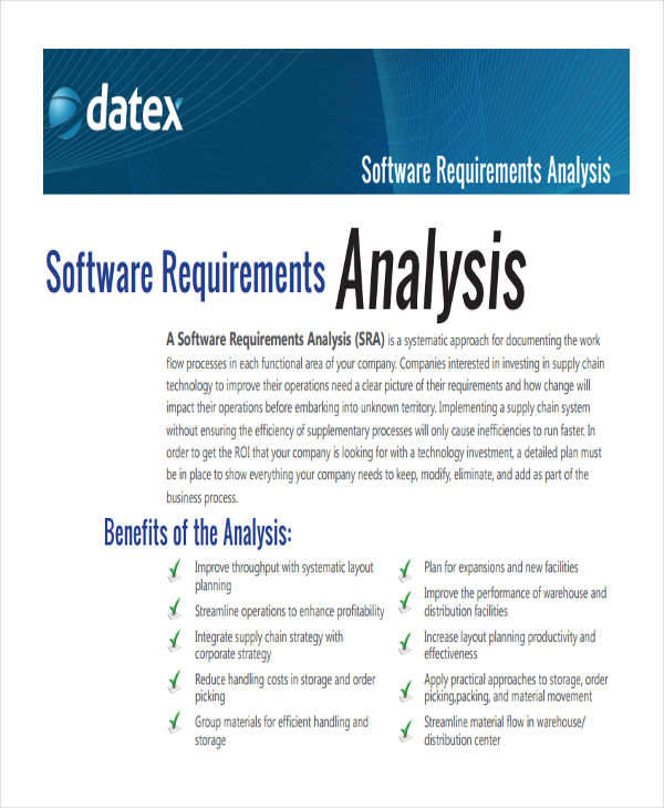 11+ Requirement Analysis - PDF, Word