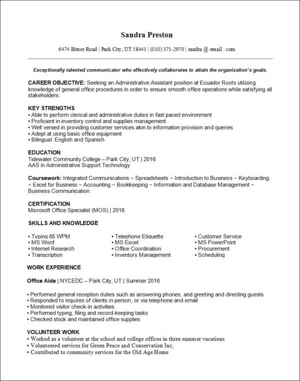 resume template latest 2019
