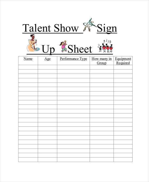 blank sign up sheets managerbillybullock - blank sign in sheet