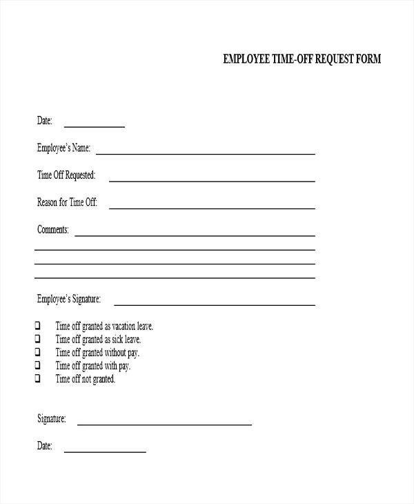 request off form hitecauto - request for time off form