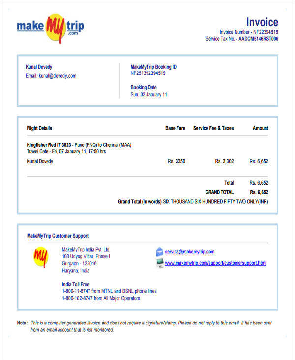 Travel Invoices kicksneakers - travel invoices