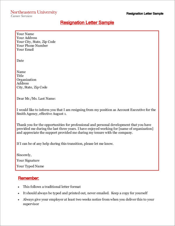 Tips on What to Put in Your Two Weeks Notice Sample Templates - 2 weeks notice letter format