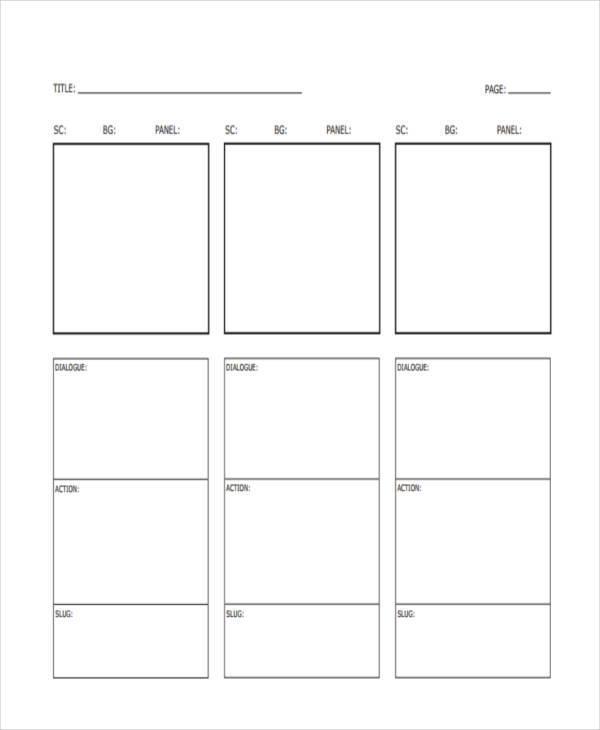 Vertical Storyboard Samples - 6 Examples in PDF - vertical storyboard