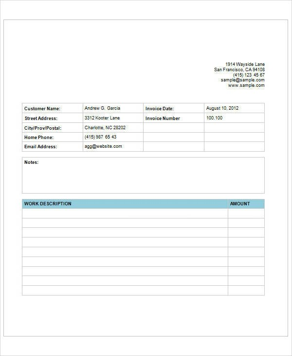 Sample Web Design Invoice - 7 Examples in PDF, Word