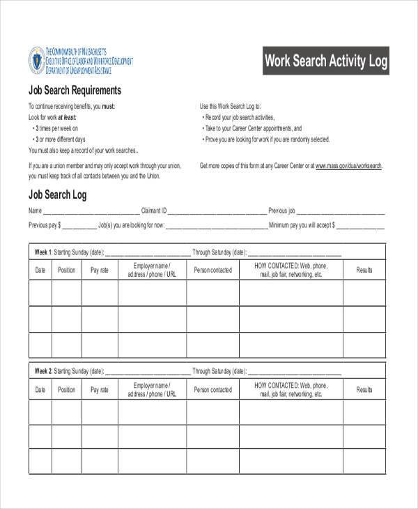 34 Free Log Sheet Samples  Templates Sample Templates - work log sheets