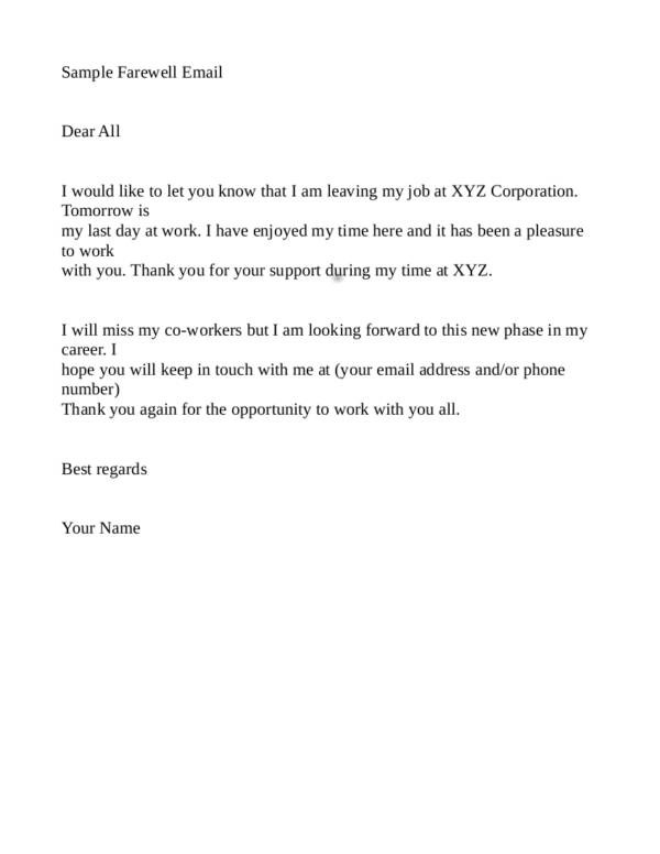 Different Types of Resignation Letters Sample Templates