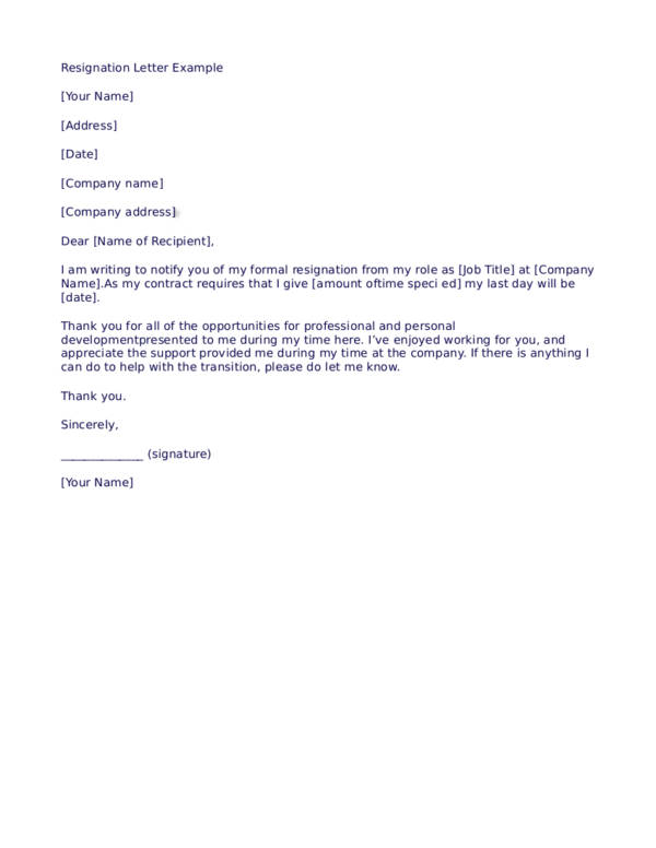 Quick Tips in Writing a Resignation Letter Sample Templates - quick tips writing resignation letters