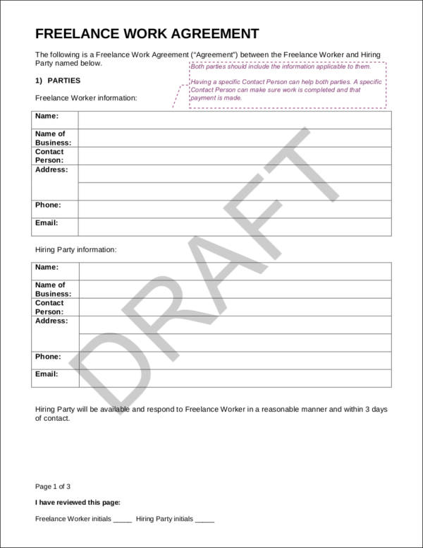 Sample Freelance Contract Template Contract Template Sample - sample freelance contract template