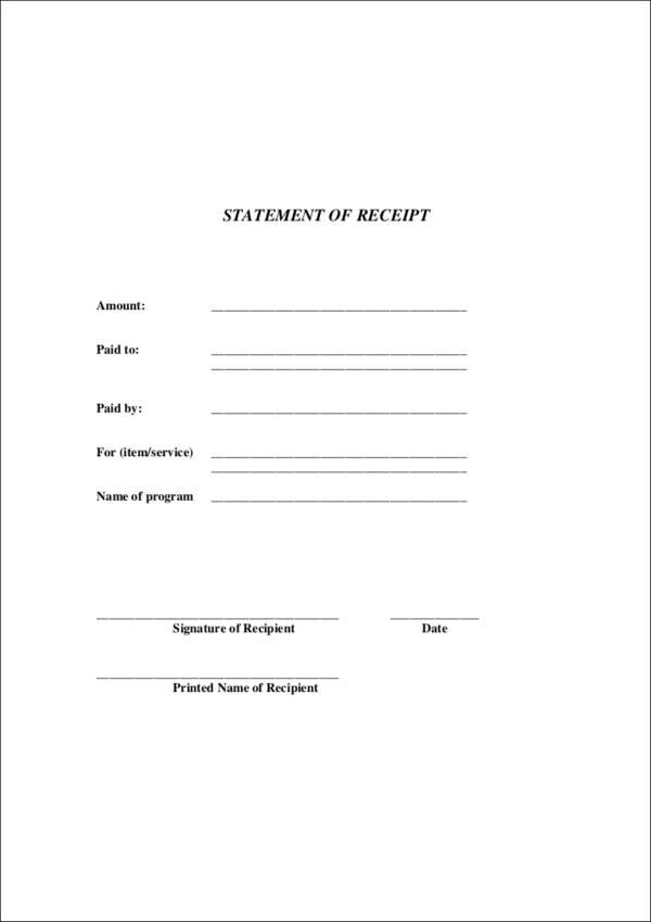 business receipt template