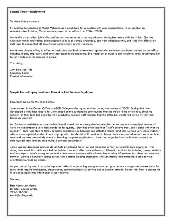 Writing an Effective Academic Recommendation Letter Sample Templates