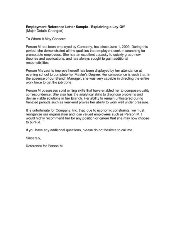 employee lay off letter