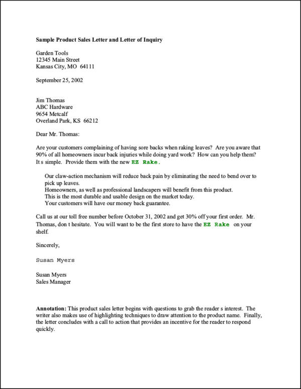 8 Useful Tips of Successful Sales Letters Sample Templates - product sales letter sample
