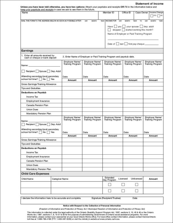 Income Statement Inclusions Financial Budget Presentation Template