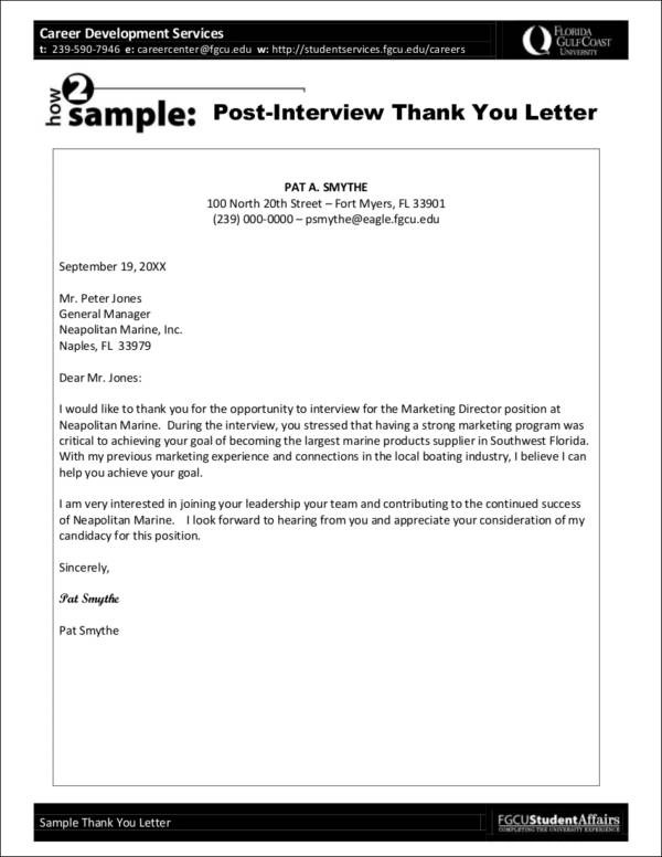 Tips for Writing a Thank-You Letter - writing post interview thank you letters
