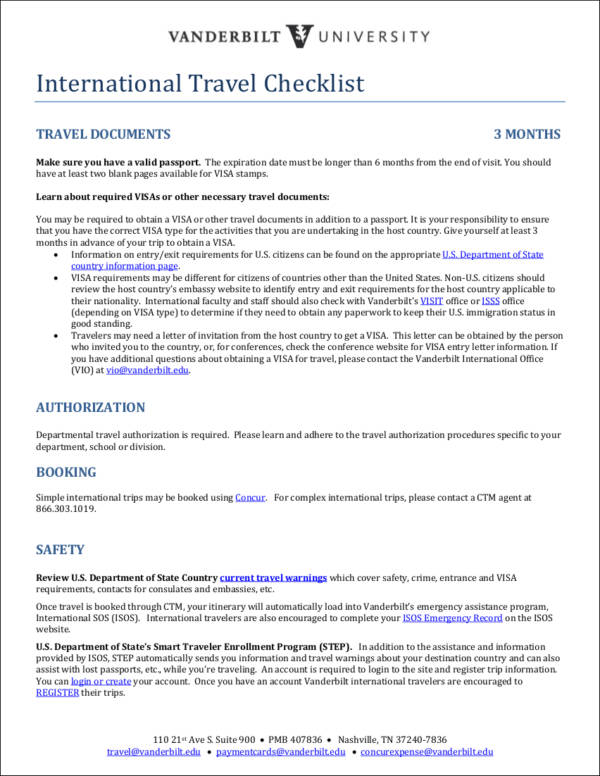 Tennessee emergency travel document