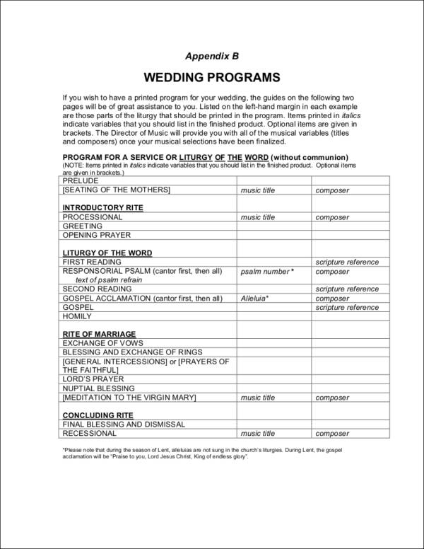 What To Include In A Wedding Program - Wedding Photography - wedding program inclusions