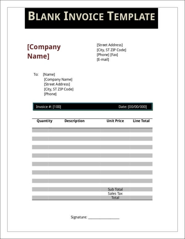 7+ Bookstore Invoice Templates - PDF, Excel